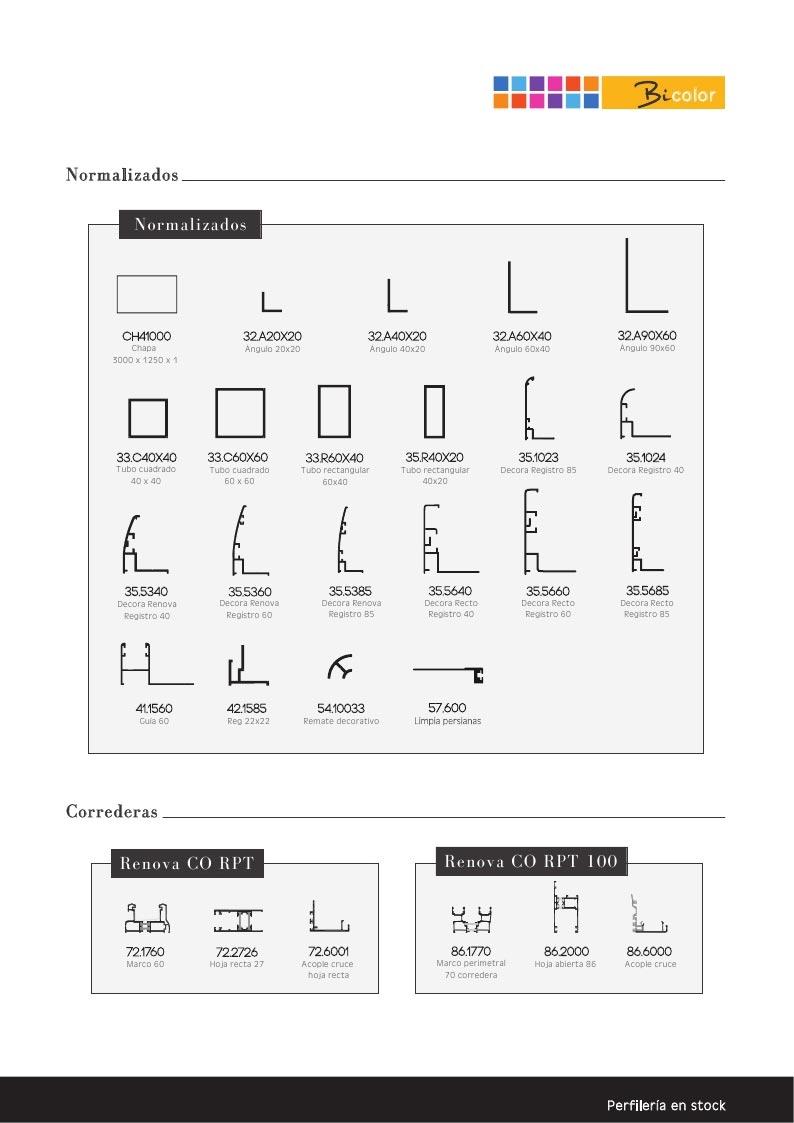 Perfiles De Aluminio Catalogo Of Catalogo Perfiles De Aluminio Materiales De Construcci N