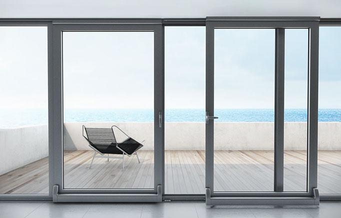 Aluminios garcilaso productos balconera de aluminio for Puerta osciloparalela