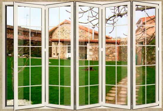 Puertas plegables aluminio exterior