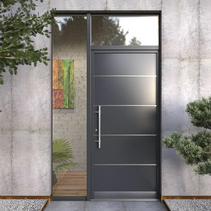 Aluminios garcilaso productos puertas de entrada de for Puertas de entrada para casas modernas