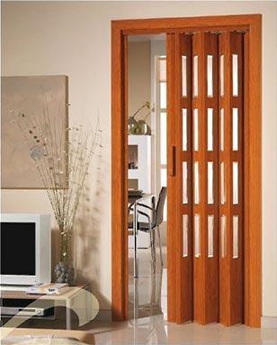 Aluminios garcilaso productos puerta plegable de pvc for Puertas plegables de interior