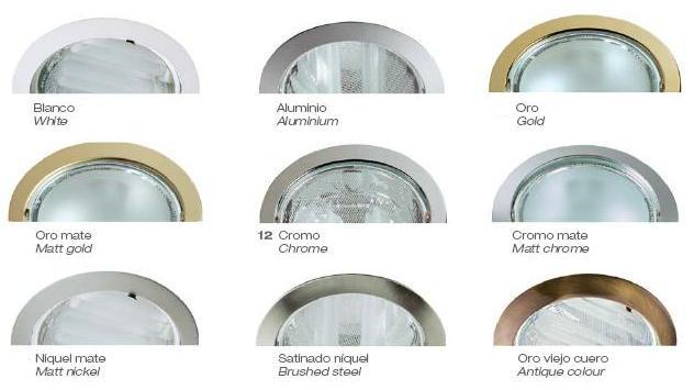 techo de aluminio aluminio iluminacion focos downlight blanco oro